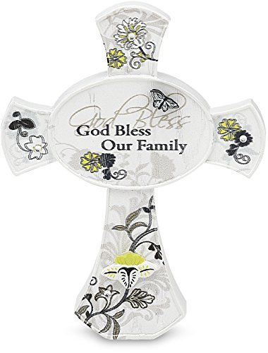 Pavilion Gift Mark My Words God Bless Our Family Cross, 3...