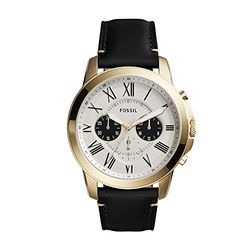 - Fossil Men's FS5272 Grant Chronograph Black Leather Watch