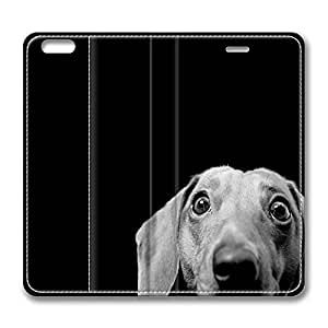 iPhone 6 Case, iPhone 6 Leather Case, Fashion Protective PU Leather Slim Flip Case [Stand Feature] Cover for New Apple iPhone 6(4.7 inch) - Dachshund by runtopwell