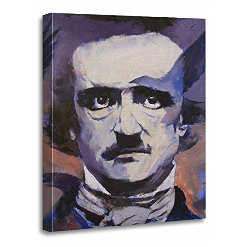 "TORASS Canvas Wall Art Print 20091211 Edgar Allan Poe Portrait Author Artwork for Home Decor 16"" x 20"""