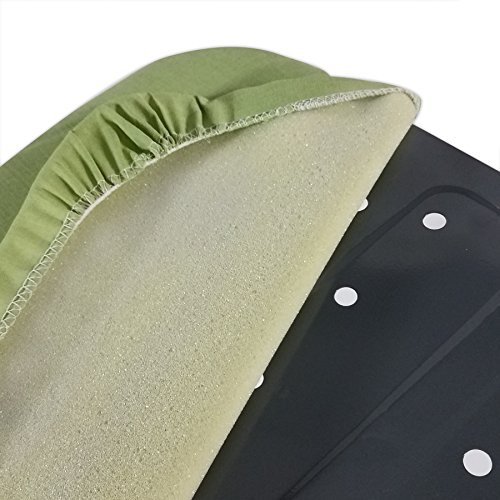 HOMZ T-Leg Adjustable Height Foam Pad Ironing Board with Cotton Cover, Green Cover by HOMZ (Image #4)
