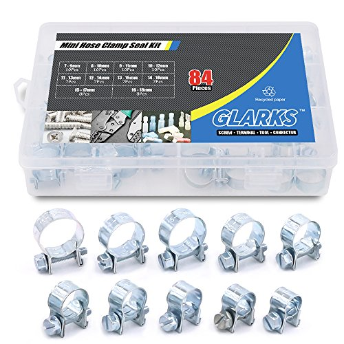 Kit Injection Fuel Update (Glarks 84Pcs 10 Size Mini Fuel Injection Style Hose Clamp Assortment Kit For Diesel Petrol Pipe)