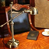 Iron Table Lamp Retro Village Rotary Table Lamp Bar Living Room Metal Decoration Desk Desk Bed Bedside Table Lamp