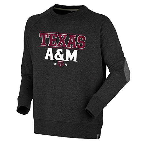 Bruzer NCAA Texas A&M Aggies Mens Oxford Crewoxford Crew, Dark Charcoal, (Texas A&m Aggies Oxford)