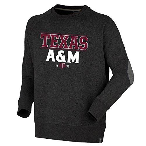 Bruzer NCAA Texas A&M Aggies Mens Oxford Crewoxford Crew, Dark Charcoal, Medium ()