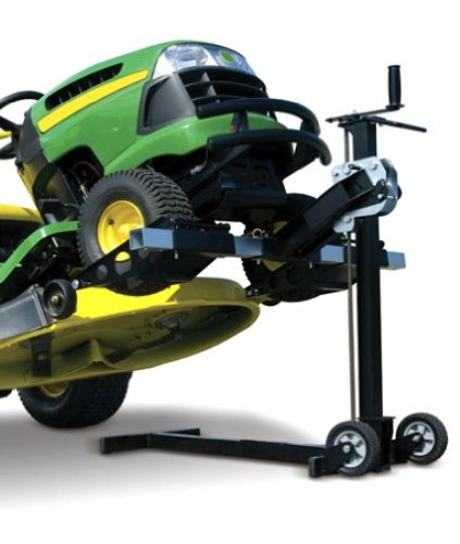 MoJack XT – Residential Riding Lawn Mower Lift, 500lb Lifting Capacity, Fits Most Residential and ZTR Mowers, Folds Flat for Easy Storage, Use for Mower Maintenance or Repair