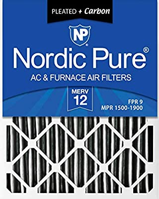 Nordic Pure 16x25x1 MERV 13 Pleated AC Furnace Air Filters 1 Pack