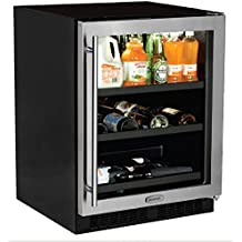 """AGA Marvel ML24BCG1RS Beverage Center with Door Right Side Hinge, 24"""", Stainless Steel"""