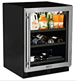 AGA Marvel ML24BCG1RS Beverage Center with Door Right Side Hinge, 24'', Stainless Steel