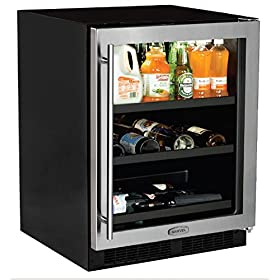 AGA Marvel ML24BCG1RS Beverage Center with Door Right Side Hinge, 24″, Stainless Steel