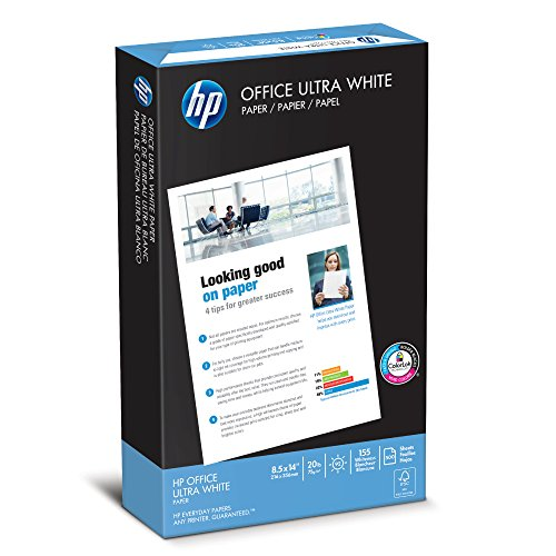 Hewlett Packard Printer Paper Jam (HP Paper, Office Ultra White, 20lb, 8.5 x 14, Legal, 92 Bright , 500 Sheets / 1 Ream, (001422), Made in the USA)