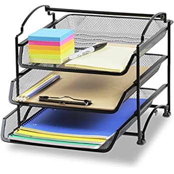 Amazoncom rubbermaid regeneration letter tray six tier for Decorative stacking letter trays