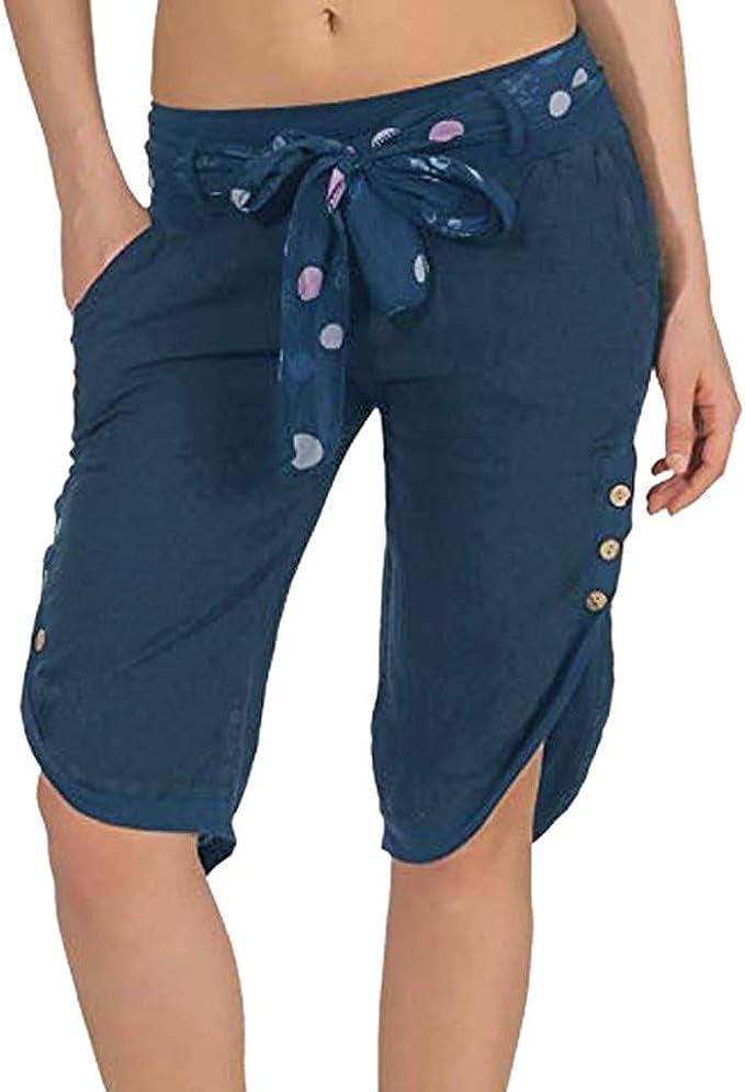 Amazon.com: YKARITIANNA - Pantalones cortos elásticos para ...