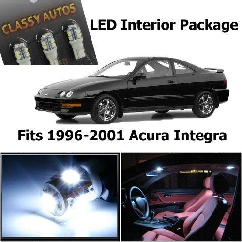 Classy Autos Acura INTEGRA White Interior LED Package (6 Pieces) ()