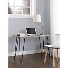 Altra Owen Retro Desk, Sonoma Oak/Gunmetal Gray