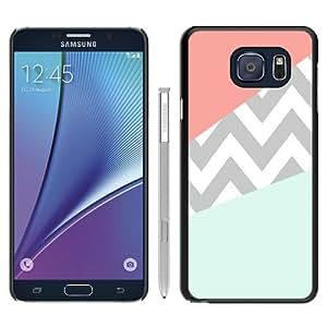 Cheap Abstract Samsung Galaxy Note 5 Case,Case Coral Mint Grey Chevron Black New Custom Design Samsung Galaxy Note 5 Cover Case
