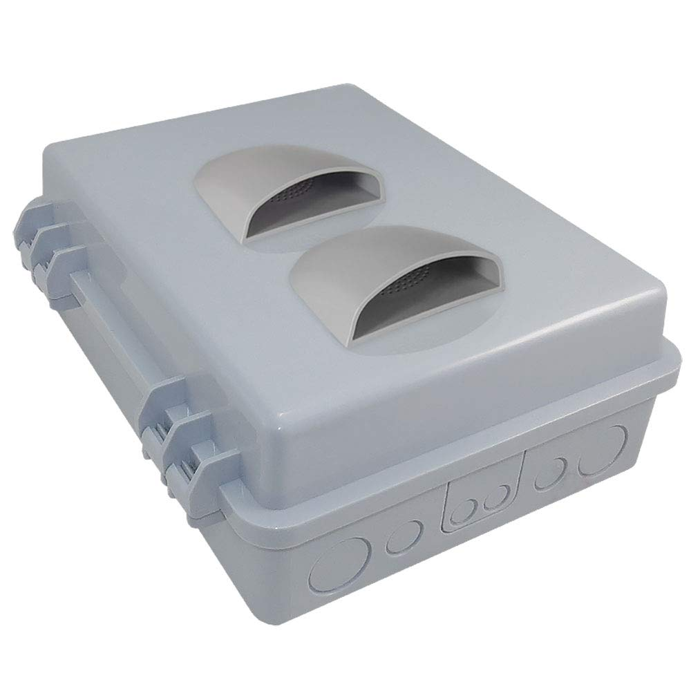 Altelix Vented NEMA Enclosure (12'' x 8'' x 3.2'' Inside Space) Polycarbonate + ABS Weatherproof NEMA Box with Aluminum Equipment Mounting Plate by Altelix (Image #5)