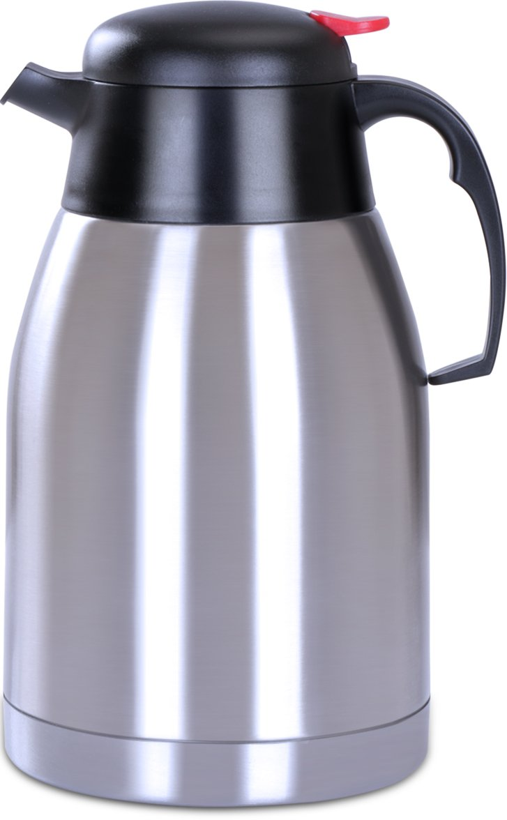 Utopia Home Premium Thermal Carafe Pitcher - 2 Liters Capacity - Double Wall Vacuum Insulation - Stainless Steel Unbreakable Construction - For Hot and Cold Beverages