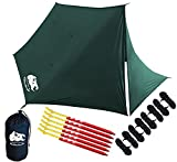 Chill-Gorilla-Fortress-Hammock-Rain-Fly-with-4-Doors-Tent-Tarp-Waterproof-Camping-Shelter-Ultralight-SILNYLON-Easy-to-Setup-Essential-Survival-Gear-Camp-Accessories-Green