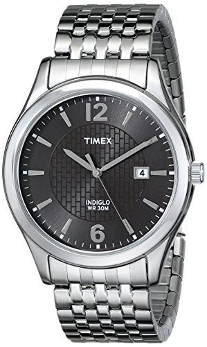 Timex Men's T2N848 Elevated Classics Dress Watch with Expansion (Mens Classic Dress Watch)