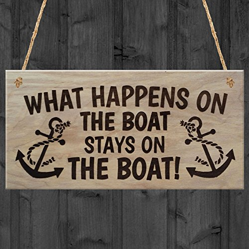 RED-OCEAN-Happens-Stays-On-The-Boat-Plaque-Wooden-Sign-Hangi-Wood-Brown-20-x-06-x-10-cm
