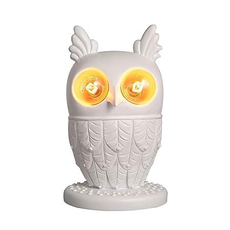 TUI Lámpara de Mesa búho, E27 Animal de la Resina de luz Figurines ...