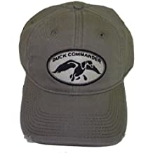 Duck Commander Olive Logo Distressed Cap