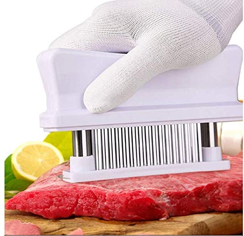 Meat Tenderizer Tool - TRY IT NOW,Taste The Tenderness or REFUNDED ⭐ Kitchen Gadget Tenderizers 48 Blades Stainless Steel Needle = Best For Tenderizing,BBQ,Marinade & Flavor Maximizer