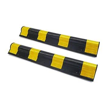 PrimeMatik - Protector de esquina para coche. Composición de goma con reflectores para parking. 79,5cm 2-pack: Amazon.es: Electrónica
