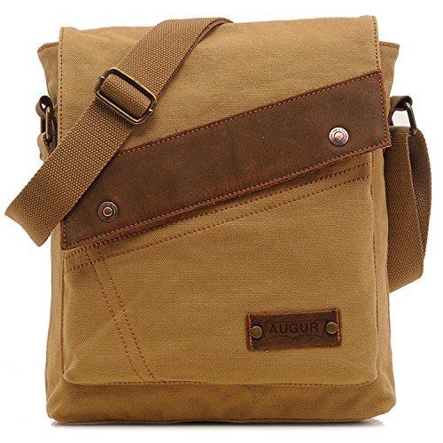 Vere Gloria Men Women Small Canvas Messenger Bag Crossbody Shoulder Handbags Ipad Laptop Bag for School Travel Hiking and Everyday Use