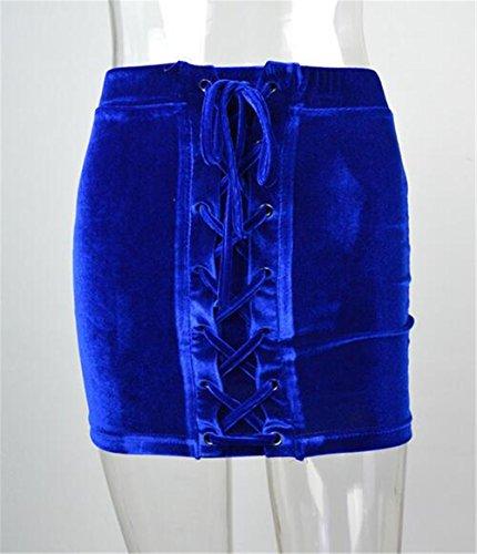 Bodycon Package Dcontracte Jupe Hanche Jupe Jupe Couleur Blue Tendance La Jupe age Mini Unie Jupe Jupe Femme BESTHOO wARf0I8xqx