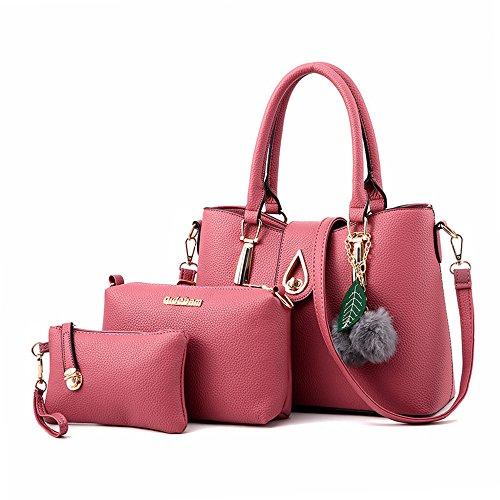Tote Pink Fabric Handbags - 7