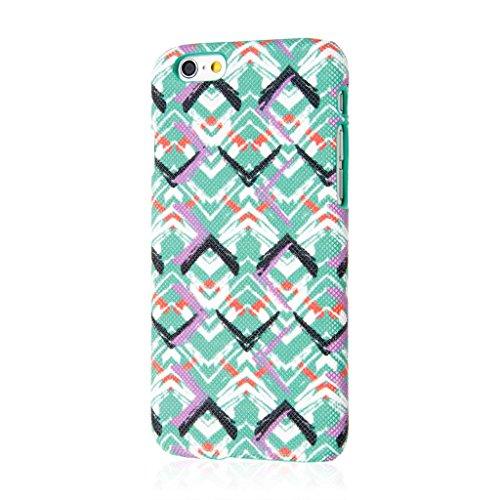Empire Signature Series iPhone 6/6S Slim Fit Phone Case - Raised Accented Edges, Diamond Knit Fabric - Purple Mint Waves