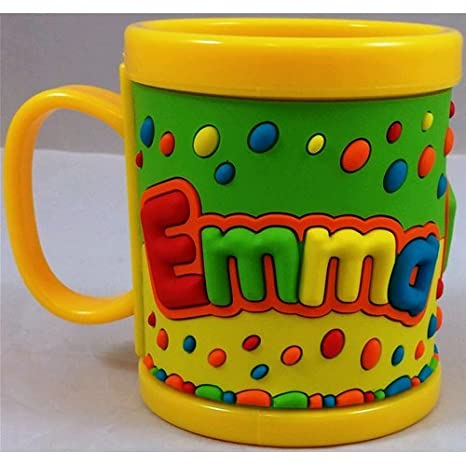TAZZA IN PLASTICA CON NOME EMMA A RILIEVO - JT041: Amazon.it: Casa e ...