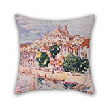 Oil Painting George Luks - Verdun, France Pillowcover ,best For...