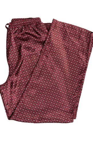 Alexander Del Rossa Mens Satin Pajama Pants, Long Pj Bottoms