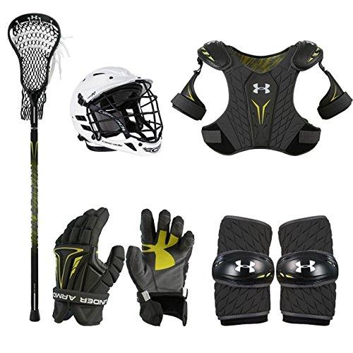 Boys Youth Lacrosse Starter Set w/Complete Stick (Cascade CPV-R Helmet) SM
