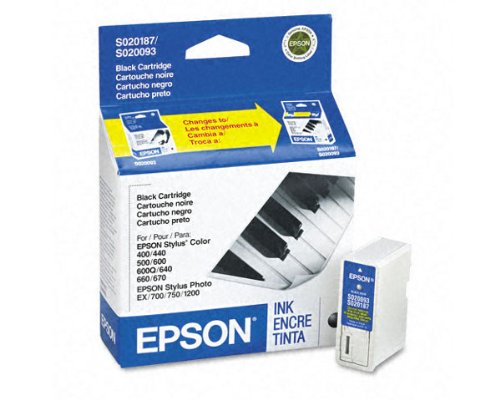 Epson Stylus Color 400 OEM Black Ink Cartridge - 370 Pages