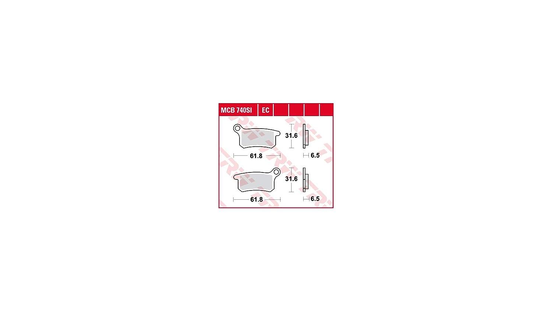 TRW MCB740EC Plaquettes de Freins Organique, TÜV Homologué