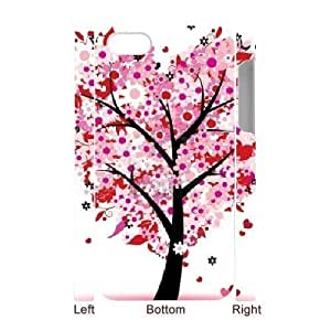 3D Bumper Plastic Case Of Love Pink customized case For Iphone 4/4s