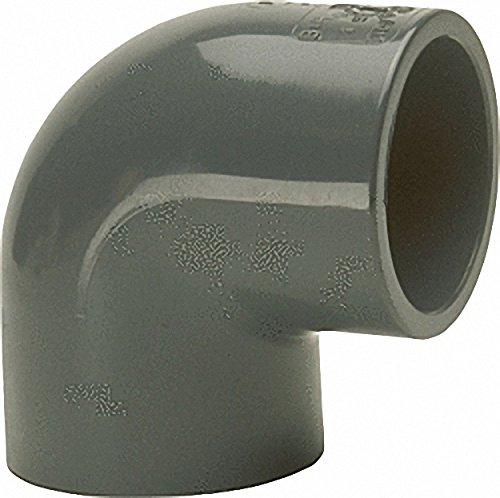 50mm beidseitig Klebemuffe PVC-U Klebefitting Winkel 90/°