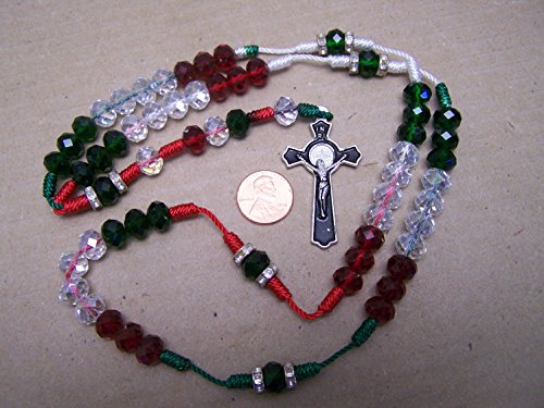 Mexican Crystal (Mexican Pride Crystal Rosary - Mexico)