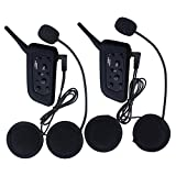 VNETPHONE Waterproof Motorcycle Helmet Communication Systems 1200M Full Duplex V6 Bluetooth Intercom and Advanced Noise Control Headset for Skiing Motorbike(Dual)
