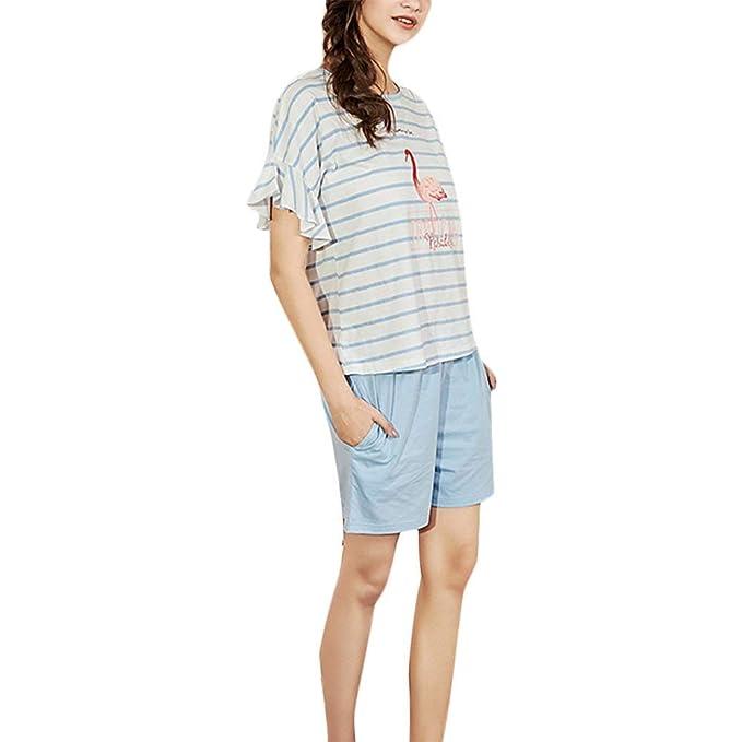 nuovo arrivo 35652 d89d8 Donna Set da Pigiama Maglietta + Pantaloncini Due Pezzi ...