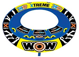 WOW World or Watersports Xtreme Inflatable Towable, Ride in Oval, 1 to 3 Persons