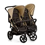 Hauck Roadster Duo SLX, Side by Side Double Pushchair from Birth to 2 x 15 kg, Combinable with hauck...