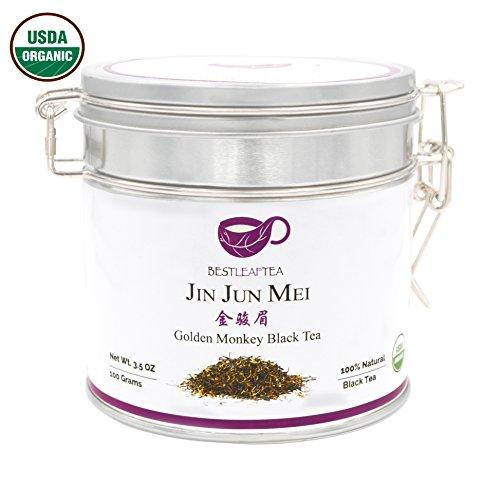BESTLEAFTEA -Spring Picked Organic Golden Monkey Black Tea/Jin Jun Mei/Jinjunmei Black Tea/100g/3.5 oz