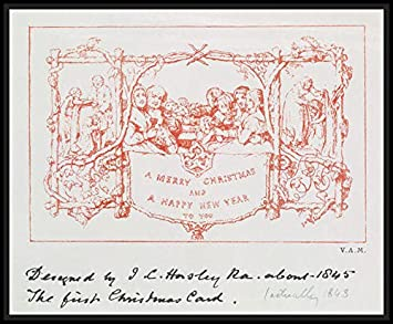 amazon com the first christmas card by j c horsley 1843 posters