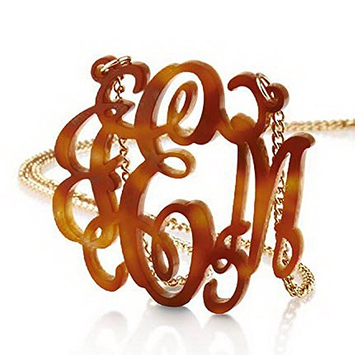 Tortoise Monogram Necklace Custom Plated product image