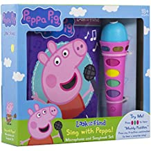Peppa Pig - Sing with Peppa! Microphone and Look and Find Sound Activity Book Set - PI Kids (Play-A-Song)